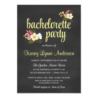 Invitaciones florales del fiesta de Bachelorette Invitacion Personal