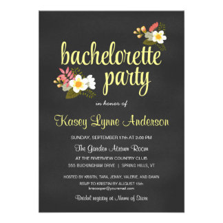 Invitaciones florales del fiesta de Bachelorette d Invitacion Personal
