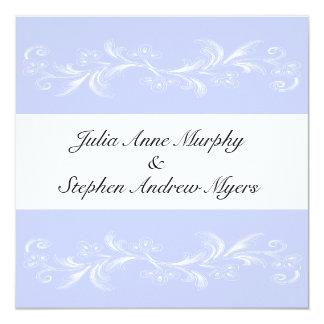 Invitaciones florales dulces del boda del bígaro invitación 13,3 cm x 13,3cm