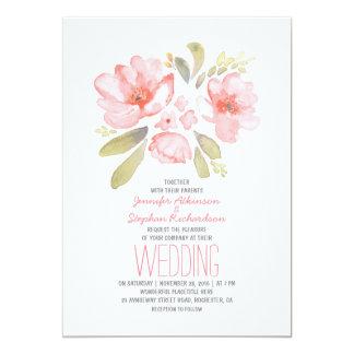 Invitaciones florales elegantes del boda de la invitación 12,7 x 17,8 cm