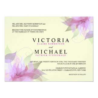 Invitaciones florales formales del boda de la invitación 13,9 x 19,0 cm