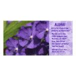 Invitaciones florales hawaianas de Luau Tarjeta Fotografica Personalizada