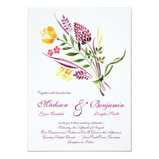 Invitaciones florales modernas del boda de la invitación 11,4 x 15,8 cm