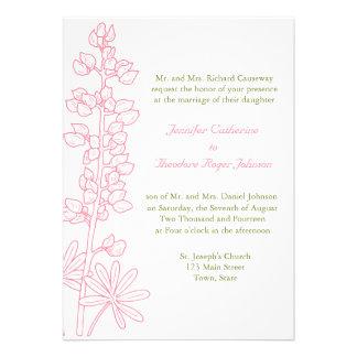 Invitaciones florales rosadas del boda del vintage anuncios