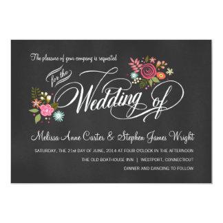 Invitaciones florales rústicas del boda de la invitacion personalizada