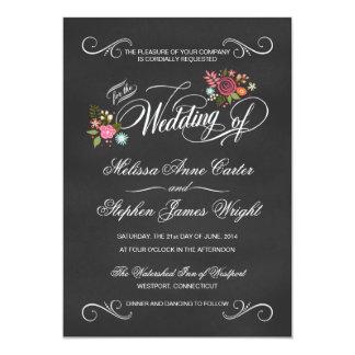 """Invitaciones florales rústicas del boda de la invitación 5"""" x 7"""""""