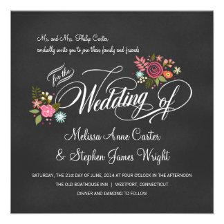 Invitaciones florales rústicas del boda de la piza invitaciones personalizada
