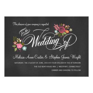 Invitaciones florales rústicas del boda de la piza invitacion personalizada