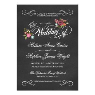 Invitaciones florales rústicas del boda de la piza comunicados personalizados