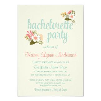 Invitaciones florales rústicas del fiesta de invitaciones personalizada