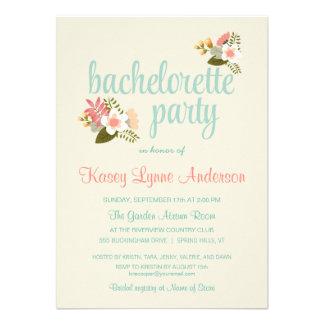 Invitaciones florales rústicas del fiesta de Bache Invitaciones Personalizada