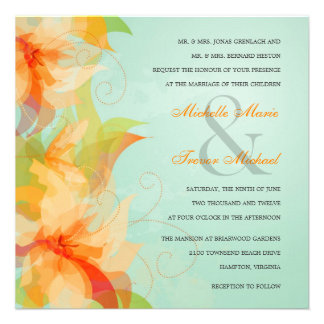 Invitaciones florales tropicales del boda de la ag anuncio personalizado