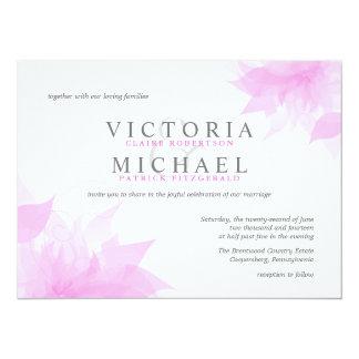 Invitaciones florales Wispy del boda del rosa en Invitación 13,9 X 19,0 Cm