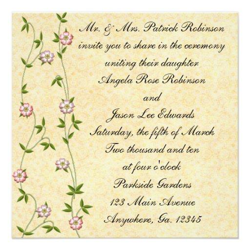 Invitaciones florecientes del boda de la hiedra anuncios