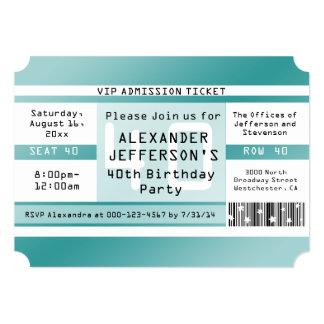 Invitaciones formadas boleto de la fiesta de invitación 12,7 x 17,8 cm