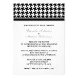 Invitaciones formales blancas negras del boda de H