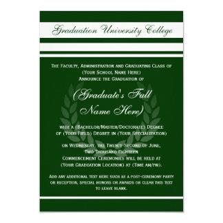 Invitaciones formales de la graduación de la invitación 12,7 x 17,8 cm