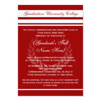 Invitaciones formales de la graduación de la invitacion personalizada