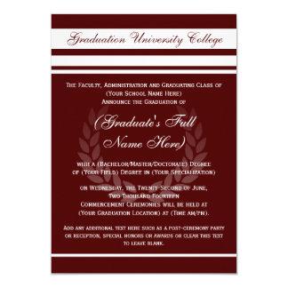 Invitaciones formales de la graduación de la comunicado