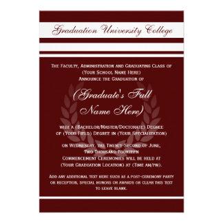 Invitaciones formales de la graduación de la unive comunicado