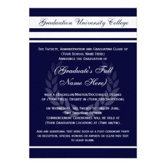 Invitaciones formales de la graduación de la unive invitaciones personales
