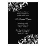 Invitaciones formales de la plata y del baile de f