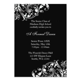 """Invitaciones formales de la plata y del baile de invitación 5"""" x 7"""""""