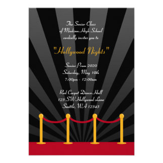 Invitaciones formales del baile de fin de curso de