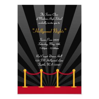 """Invitaciones formales del baile de fin de curso de invitación 5"""" x 7"""""""