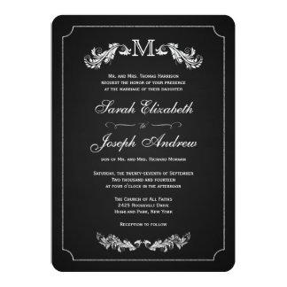 """Invitaciones formales del boda de la pizarra del invitación 5"""" x 7"""""""