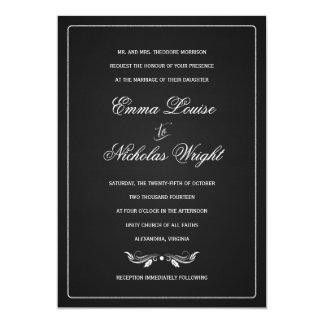 Invitaciones formales del boda de la tipografía de anuncios