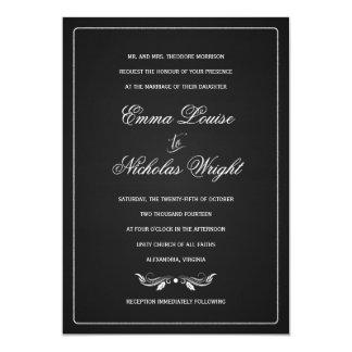 """Invitaciones formales del boda de la tipografía de invitación 5"""" x 7"""""""