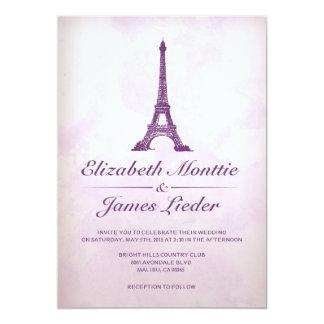 """Invitaciones formales del boda de la torre Eiffel Invitación 5"""" X 7"""""""