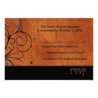 Invitaciones frecuentadas de RSVP del bosque Anuncio Personalizado