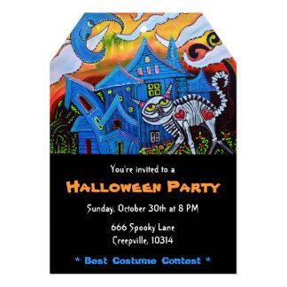 """Invitaciones frecuentadas del fiesta de Halloween Invitación 5"""" X 7"""""""