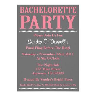 Invitaciones frescas del fiesta de Bachelorette Anuncio