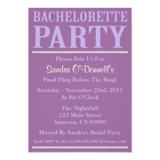 """Invitaciones frescas del fiesta de Bachelorette Invitación 5"""" X 7"""""""