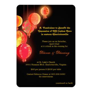 """Invitaciones Fundraising temáticas asiáticas Invitación 5"""" X 7"""""""