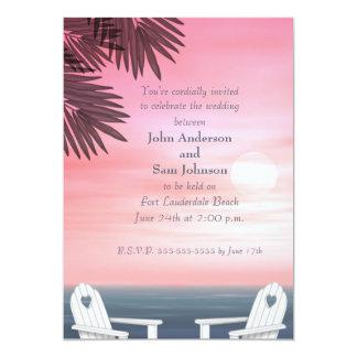 """Invitaciones gay de encargo del boda de playa invitación 5"""" x 7"""""""