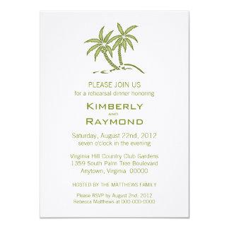 Invitaciones gemelas de la cena del ensayo de las invitación 11,4 x 15,8 cm
