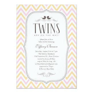 Invitaciones gemelas de la fiesta de bienvenida al invitación 12,7 x 17,8 cm