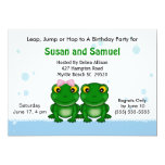 Invitaciones gemelas de la fiesta de cumpleaños invitación 12,7 x 17,8 cm
