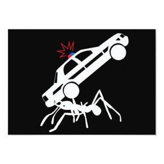 """Invitaciones gigantes del ataque de la hormiga invitación 5"""" x 7"""""""