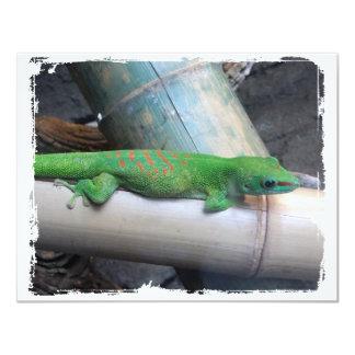 """Invitaciones gigantes del Gecko del día de Invitación 4.25"""" X 5.5"""""""