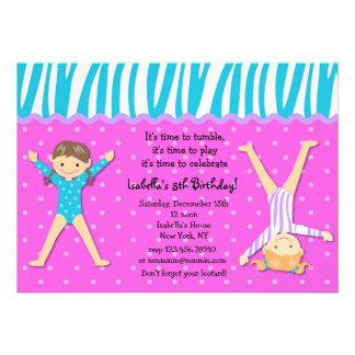 Invitaciones gimnásticas de la fiesta de cumpleaño anuncios