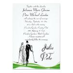 Invitaciones Golfing caprichosas del boda de los Comunicado