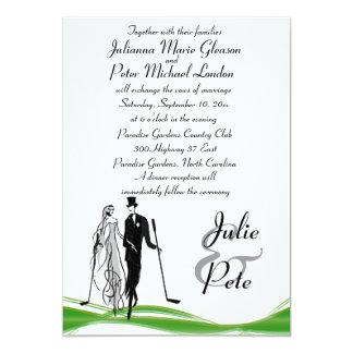 """Invitaciones Golfing caprichosas del boda de los Invitación 5"""" X 7"""""""