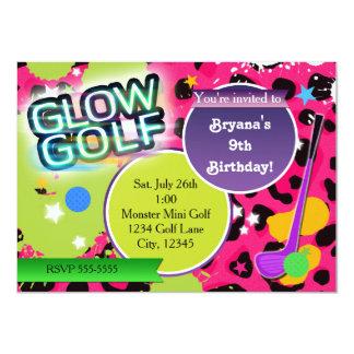 Invitaciones Golfing del fiesta del leopardo del Invitacion Personalizada