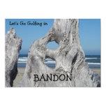 Invitaciones Golfing el Driftwood de la playa de Invitación 12,7 X 17,8 Cm