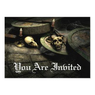Invitaciones góticas de la fiesta de cumpleaños invitación 12,7 x 17,8 cm